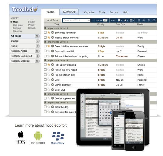 Toodledo _ A to-do list to organize your tasks
