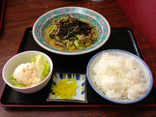 焼き豚冷麺定食