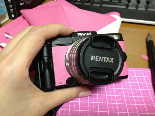 PENTAX Q皮の貼り替え