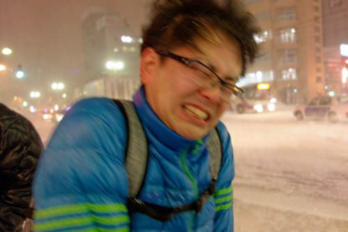 吹雪のようす