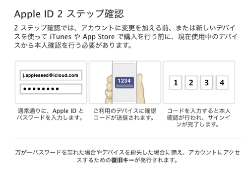 Apple id 2 steps login
