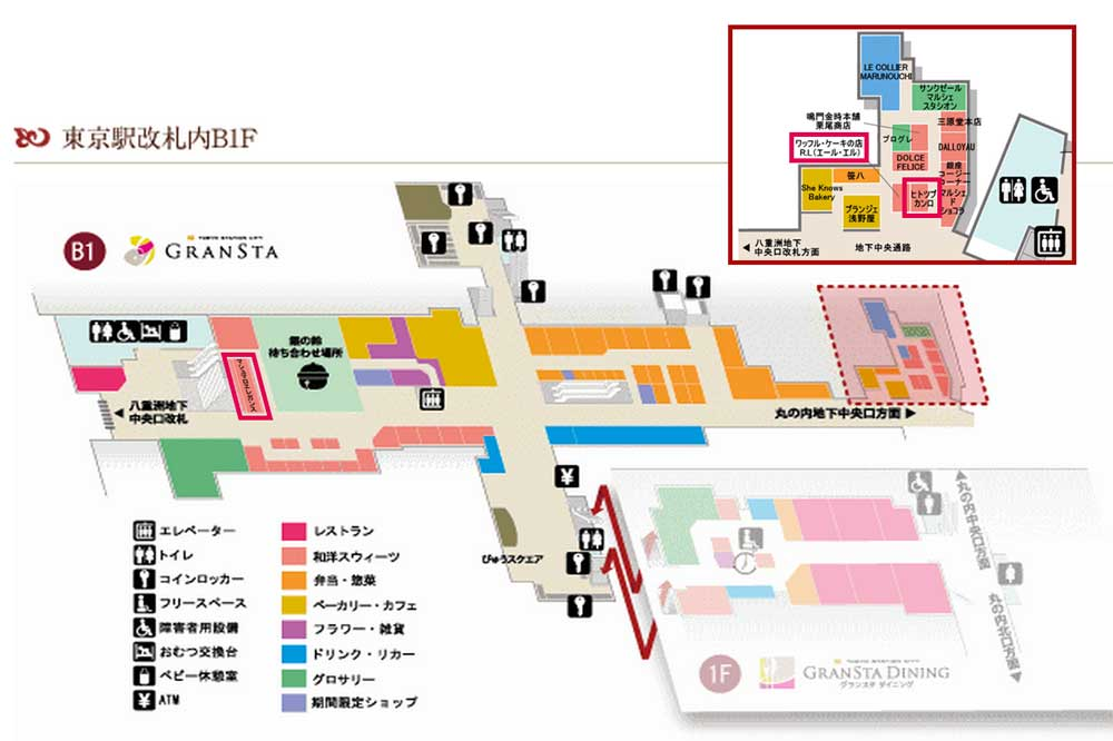 Tokyo station map2