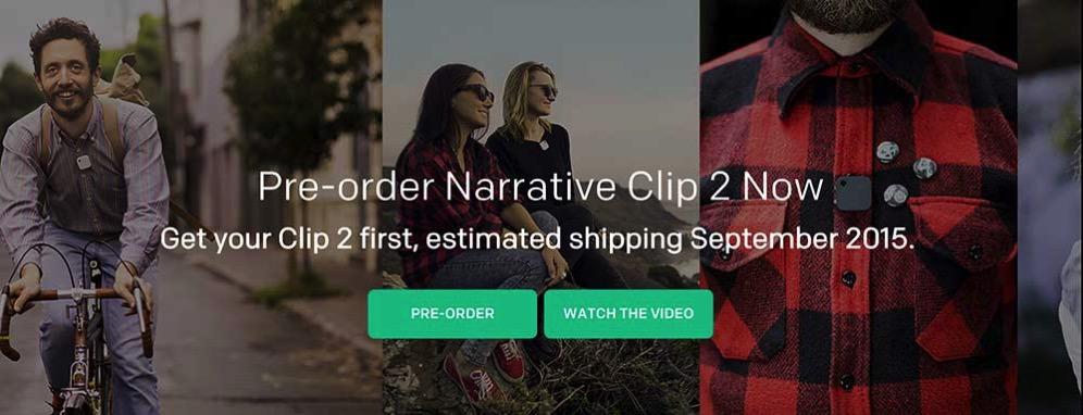 Narrative Clip 2 The world s most wearable camera と Evernote Premium